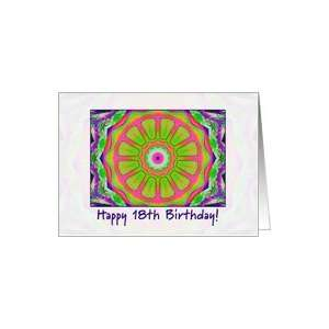 multi kaleidoscope   Happy 18th Birthday Card: Toys & Games