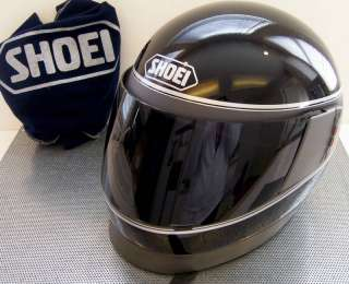 VINTAGE SHOEI C 10 C10 FULL FACE BLK/GR HELMET & SHIELD