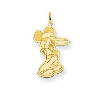 Gold plated SS Disney Mickey Charm   JewelryWeb Jewelry