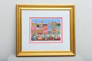 Embellished 3 D Serigraph Charles Fazzino Hester Street
