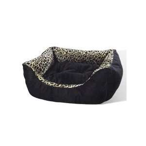 New small leopard print pet cat or dog bed kitty cats