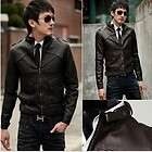 Mens Slim Top Designed Sexy PU Leather Short Jacket Coat H401 2color
