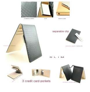 Engraved Money Clip Wallet Card Case Carbon Pattern