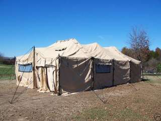 MILITARY TENT MGPTS SURPLUS 18 X 36 HUNTING ARMY