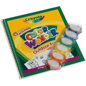Crayola Color Wonder Fingerpaint And Coloring Book Toys & Games