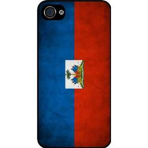 Rikki KnightTM Haiti Flag Black Hard Case Cover for Apple