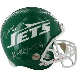 Sack Exchange Autographed Throwback Jets Replica Helmet   Model