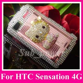 hello kitty Bling Case cover for HTC Sensation 4G z710e G14 B1