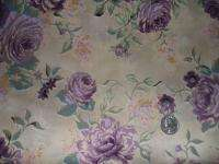 12 Block Log Cabin Pre cut Quilt kit Pretty Purple Rose Floral Fabric