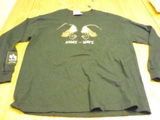 Army vs. Navy football game 100% cotton long sleeve t shirt size adult