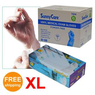 Disposable Powder Free Vinyl Medical Exam (Latex Free) Gloves X Large