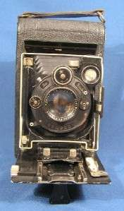 Antique ICA Germany Folding Camera Carl Zeiss Jena Lens