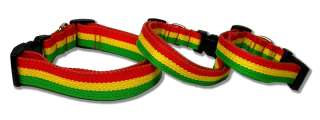 Rasta Bamboo Adjustable Pet Dog Collar