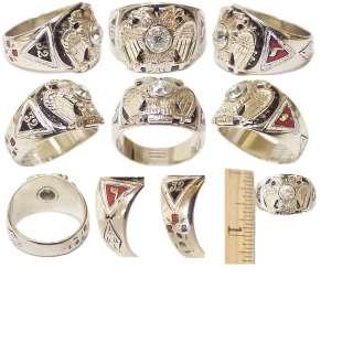 Mason Double Eagle Solid White Gold Enamel Diamond Ring