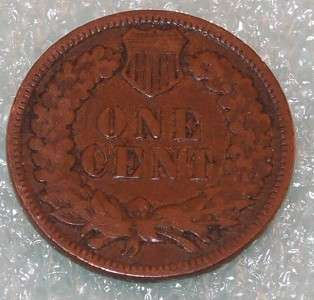 1897 U.S. INDIAN HEAD One 1 CENT PENNY Small cent COIN |