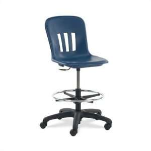 Metaphor Series Lab Stool Seat Color Blueberry, Casters