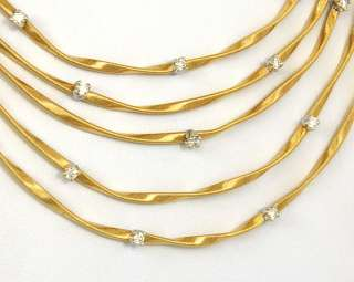 MARCO BICEGO SIGNED 18K GOLD 0.72ct DIAMONDS LADIES MARRAKECH NECKLACE