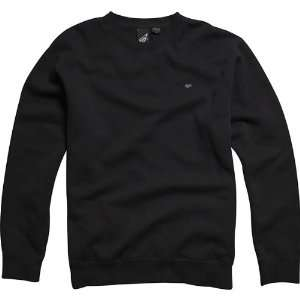 Fox Racing Mr. Crew Fleece Mens Sweater Race Wear Sweatshirt   Black