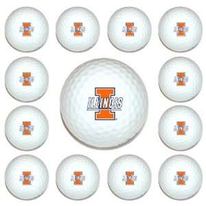Illinois Fighting Illini Team Logo Golf Ball Dozen Pack