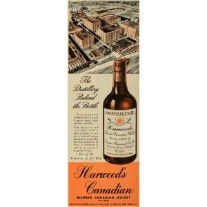 1947 Ad William Importers Harwoods Canadian Whisky   Original Print Ad