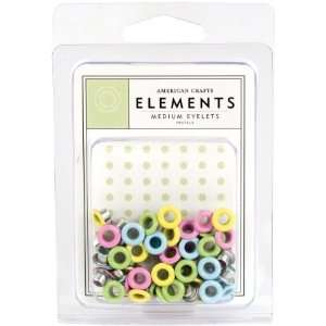 American Crafts MEDE 85466 Medium Eyelet Assortment 4 (6