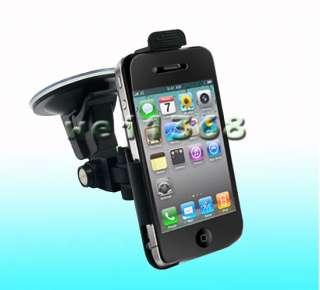 Mount Holder + Belt Clip Case 2 in 1 Function For iphone 4S