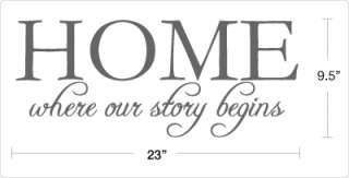 HOME where our story begins   Vinyl Wall Decals Quotes