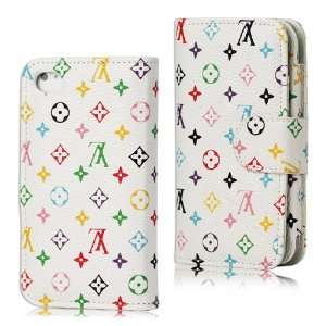 Wallet Lv Monogram Leather Flip Case for Iphone 4 4s Cell