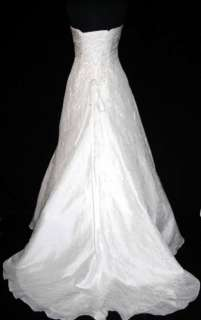 Maggie Sottero Diamond White 10 Informal Wedding Bridal Dress