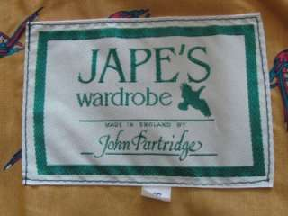 vtg JOHN PARTRIDGE ENGLAND JAPES GREEN OILSKIN RIDING OUTBACK COAT