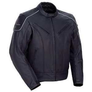 Magnum Matte Black Leather Motorcycle Jacket   Medium