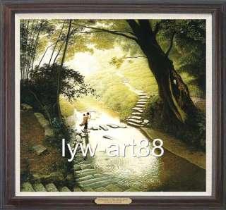 Original Oil painting landscape art Bamboo Forest