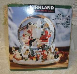 Christmas Musical Snow Water Globe Santa Elfs Bear Snowman Jingle Bell