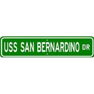 USS SAN BERNARDINO LST 1189 Street Sign   Navy Patio, Lawn & Garden