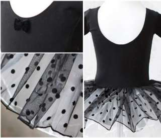 Leotard Ballet Tutu Costume Dance Skirt Dress 2 7Y 2color |