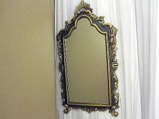 Vintage Wall Decorative Mirror Gold Gilt and Brown Frame Art Nouveau