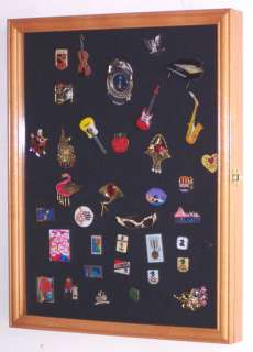 Lapel Pin patches Medal Display Case Cabinet Shadow Box