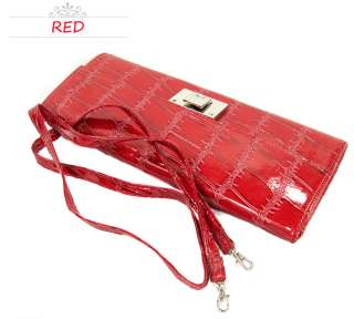 New Fashion Lady Womens Croc Leather Long Party Clutch Wallet Purse