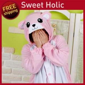 SWEETHOLIC Kigurumi Halloween Costumes PinkBear costume