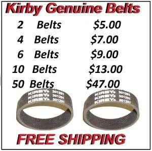 Kirby Vacuum Belts Sentria Ultimate Diamond G6 G5 G4 G3