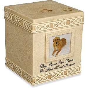 Cremation Dog Urn Dog Paw Prints Keepsake Box 2 Pet