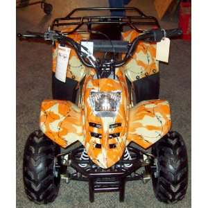 2009 Gas Powered 110cc (orange camo) Kids Quad/atv/4