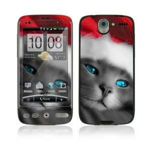 HTC Desire Skin Decal Sticker   Christmas Kitty Cat