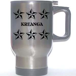Personal Name Gift   KREANGA Stainless Steel Mug (black
