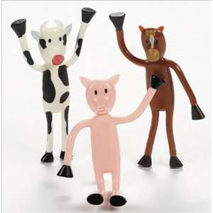 Bendable Farm Animals Toys & Games