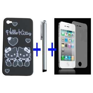 For iPhone 4G Lot of 3 Items Hello Kitty Black Snap Slim