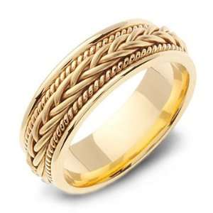 STELIOS 14K Yellow Gold Braided Wedding Band Ring Jewelry