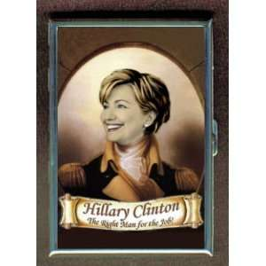 HILLARY CLINTON THE RIGHT MAN ID Holder, Cigarette Case or Wallet