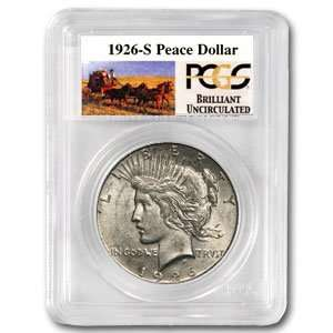 1926 S Brilliant Uncirculated PCGS Stage Coach Silver
