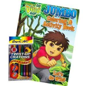 Go Diego Go Coloring Book Set with Twist up Crayons Toys